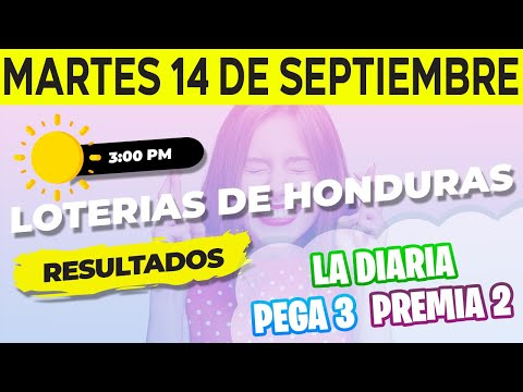 Sorteo 3PM Loto Honduras, La Diaria, Pega 3, Premia 2, Martes 14 de Septiembre del 2021   Ganador