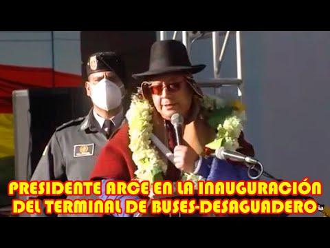 PRESIDENTE ARCE LLEGA LA FRONTERA CON EL PERÚ HASTA MUNICIPIO DE DESAGUADERO..