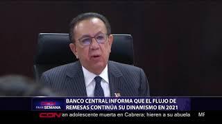 Banco Central informa que flujo de remesas continúa su dinamismo en 2021