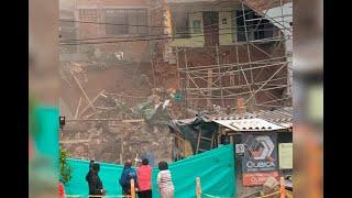 Evacuan varias casas por colapso de estructura en el barrio El Trianón en Envigado