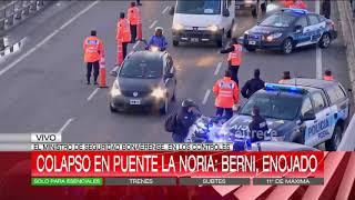 En pleno Puente La Noria, Berni se enojó con el operativo que controlaba el ingreso a Buenos Aires