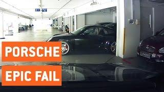 Porsche Driver Crashes into Parked Car | Carrera Crash