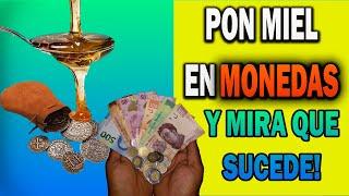 RITUAL CON MIEL Y MONEDAS PARA ATRAER DINERO