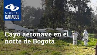 Captado en cámara: así cayó aeronave en el norte de Bogotá