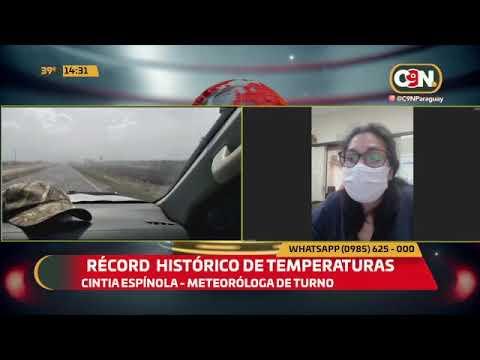 Récord histórico de temperaturas
