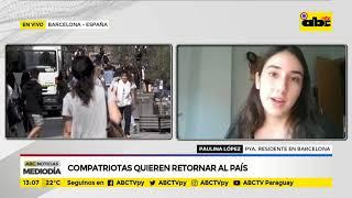Compatriotas quieren retornar al país