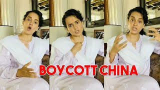 Kangana Ranaut's Thought On China Products & Apps | Boycott China | IG Telugu - IGTELUGU