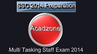 Preparing SSC Multi Tasking Staff (MTS) Examination 2014
