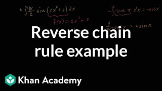 Reverse chain rule example