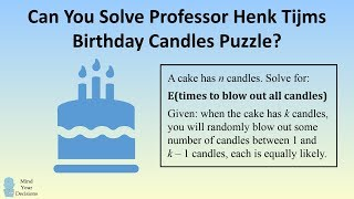 Can You Solve Professor Henk Tijms' Birthday Candles Puzzle?