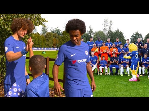 David Luiz Reveals Willian's Secret As Bridge Kids Member Meets The Team