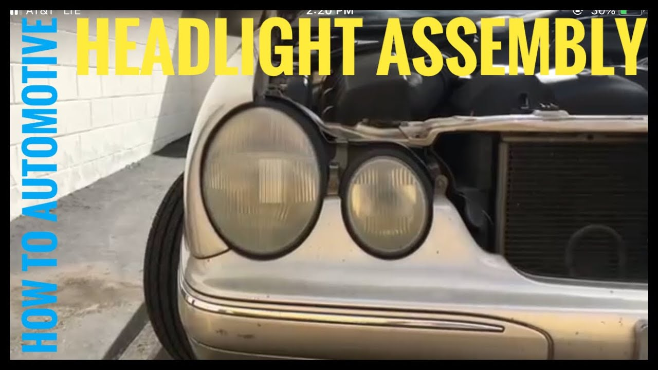How to Replace the Headlight Assembly on a 2000-2003 Mercedes E320 W210