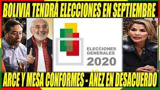 Elecciones En Bolivia Será el 6 de Septiembre de 2020 - Candidatos Arce y Mesa Están Conformes
