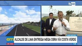 Costa Verde: alcalde de Lima inaugura ampliación del tramo Escardo - Virú