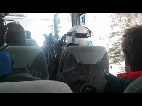 Cross country bus from Monte Pana to Saltria in Val Gardena.
