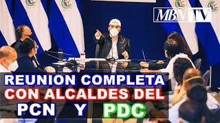 Nayib Bukele, Sostiene Reunión Privada con Alcaldes del Partido #PDC Y #PCN   REUNION COMPLETA