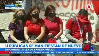 Universitarios protestan nuevamente en Asamblea Legislativa