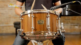 Metro 7.5x13 Brown Box Block Snare Drum Natural Gloss—Quick 'n' Dirty