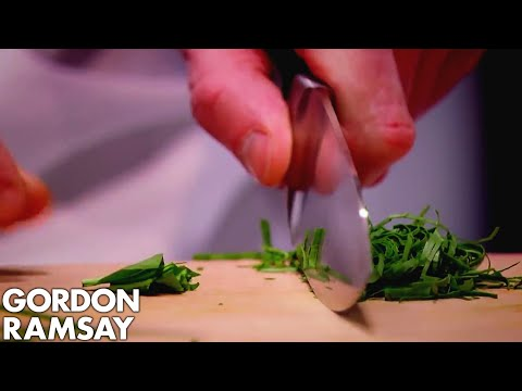 Gordon Demonstrates How to Finely Chop Fresh Herbs WITHOUT Staining the Chopping Board