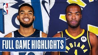 TIMBERWOLVES at PACERS | FULL GAME HIGHLIGHTS | January 17, 2020
