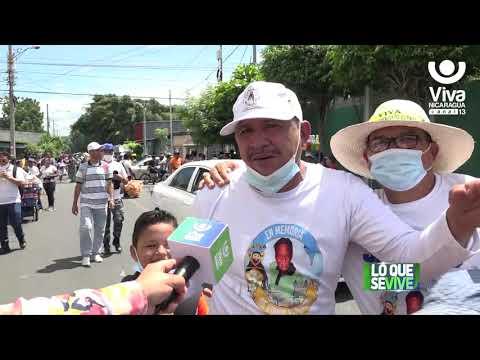 Mocito de Santo Domingo de Guzmán recorre los barrios orientales de Managua