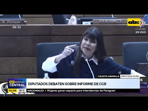 Diputados debaten sobre informe de CGR