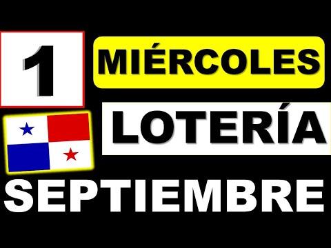 Resultados Sorteo Loteria Miercoles 1 de Septiembre 2021 Loteria Nacional Panama Miercolito Que Jugo