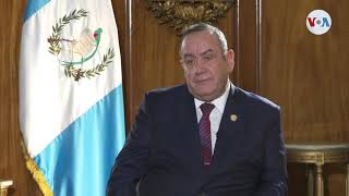 Alejandro Giammattei expone temas a tratar con la vicepresidenta estadounidense