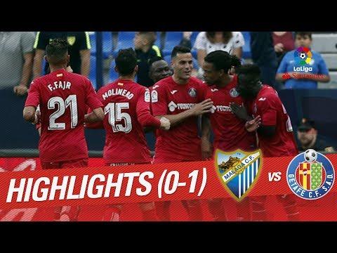 Resumen de Málaga CF vs Getafe CF (0-1)