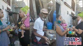 Diosa de Cuba lleva ayuda a familia cubana que perdió su casa por derrumbe en La Habana