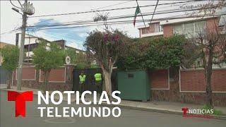 México denunciará a Bolivia por supuesto asedio a su embajada   Noticias Telemundo