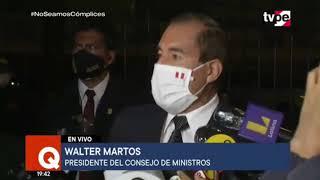 Declaraciones del Premier Walter Martos tras su reunión con el presidente del Congreso