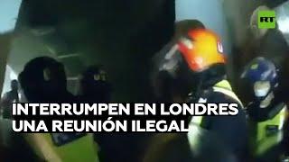 Policía interrumpe una reunión ilegal en Londres