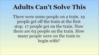Adults Stumped By Maths Questions For 15 Year Olds. Can You Solve Them?