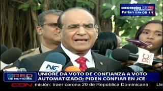 UNIORE  da voto de confianza a voto automatizado; piden confiar en JCE