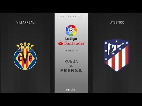 Rueda de prensa Villarreal vs Atlético
