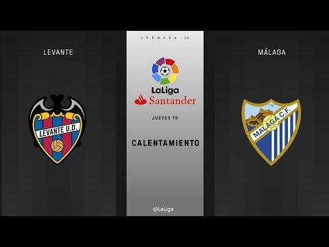 Calentamiento Levante vs Málaga