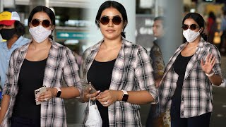 Actress Poorna Spotted At Hyderabad Airport | Celebrities Airport Videos | TFPC - TFPC
