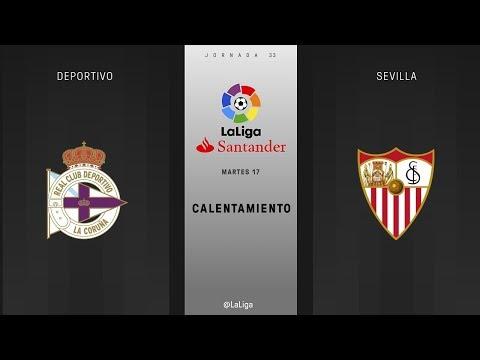 Calentamiento Deportivo vs Sevilla