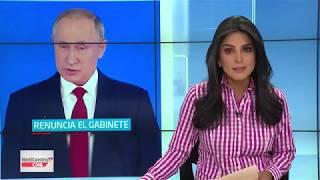 Rusia: renuncia todo el gabinete de Putin, incluyendo el primer ministro