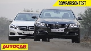 Mercedes Benz E250 CDi vs BMW 520d | Comparison Test | Autocar India