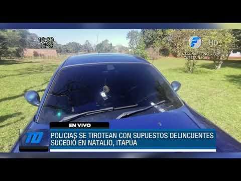 Policías a los tiros con supuestos delincuentes
