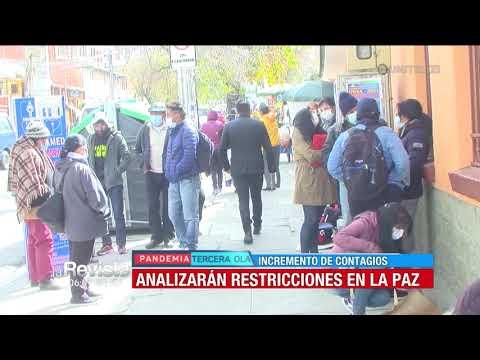 """Arias propone restricciones y no """"cuarentena rígida"""" en La Paz"""