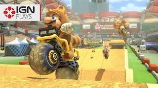 Mario Kart 8: Excitebike's Insane Jumps on 200cc - IGN Plays Live