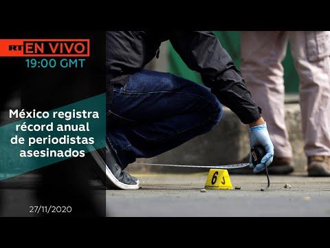 México registra récord anual de periodistas asesinados - NOTICIERO 27/11/2020
