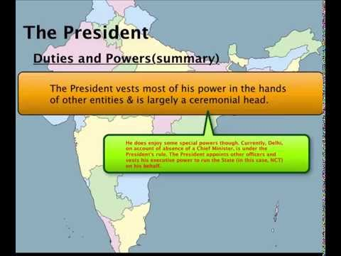 Gov India Explained - 3a. The President