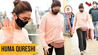 Huma Qureshi Exclusive Visuals @ Hyderabad Airport | Celebrities At Airport Videos | TFPC - TFPC