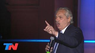 Alberto Fernández le habló a la multitud en Plaza de Mayo: