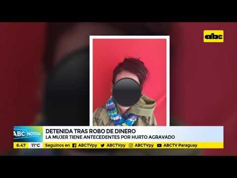 Mujer detenida tras robar dinero a su tía