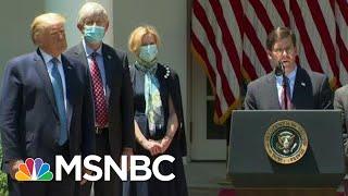 Esper Omits Pentagon Guidance For Sake Of Trump-Boosting Happy Talk | Rachel Maddow | MSNBC